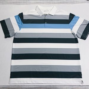 Men's Nike Dri-Fit Golf Striped Polo Size XXL NWT
